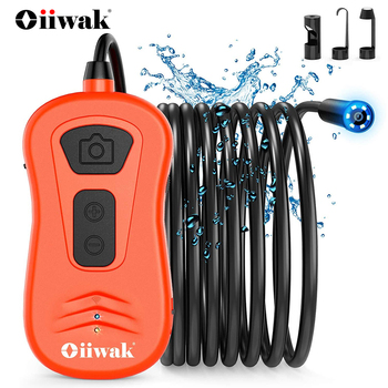 Oiiwak 5.0MP 1944P WiFi Borescope with Semi-Rigid Cable Wireless Camera 6X Zoomable Endoscope Inspection Camera for iOS Android antscope wifi endoscope camera android 8mm 2 0mp 720p borescope mini camera semi rigid hard tube and softwire car inspection