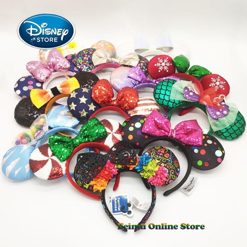 Disney 3D Minnie Mickey Ears Disneyland Hair Hoop Beauty And Beast Headband Party Headwear Girl Toys Birthday Party Decoration