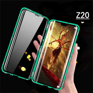 Image 1 - For Nubia Z20 Smartphone Aluminum Metal Bumper & 9H Tempered Glass Magnet Phone Case Protective Cover for ZTE Nubia Z20 Phone