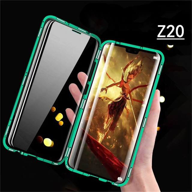 For Nubia Z20 Smartphone Aluminum Metal Bumper & 9H Tempered Glass Magnet Phone Case Protective Cover for ZTE Nubia Z20 Phone