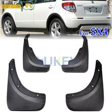 HobbyLane For Suzuki SX4 2007 - 2013 Car Hatchback & Crossover Mudflaps Splash Guards Mud Flap Fenders Set Mudguards(China)
