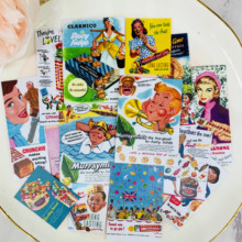 67 Uds vintage candy poster libro de pegatinas estudiante niños juguetes Etiqueta de cuaderno pegatina decorativa papel papelería
