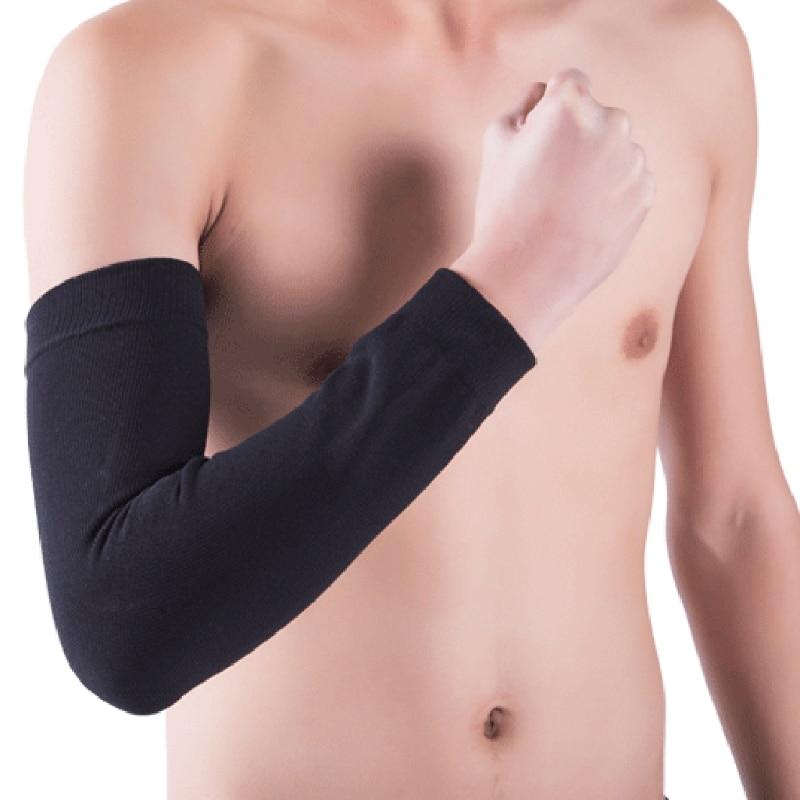 Basketball Elbow Protective Brace Pads Anti-UV Elastic Arm Sleeves Armguards New LX9E