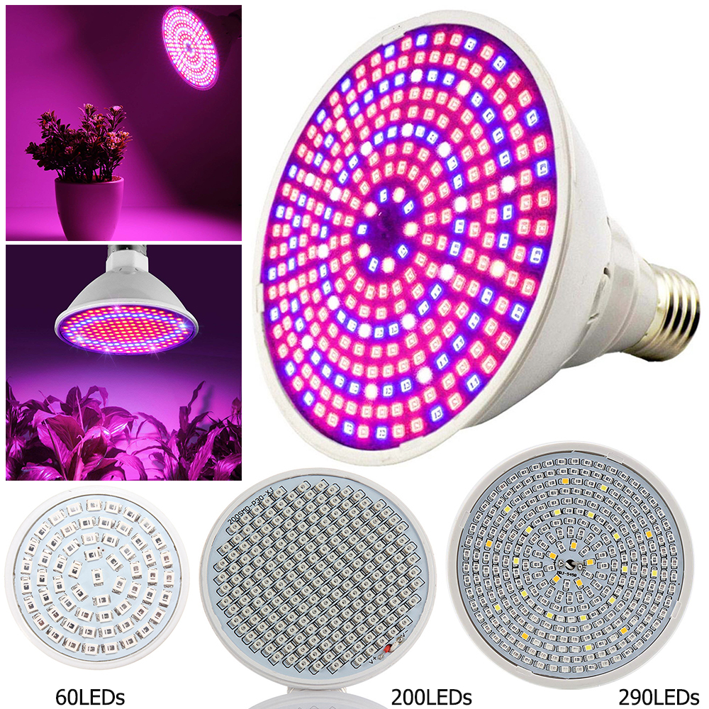 E27 Plant Grow LED Light Bulbs Lamp 3W 15W 18W Plant Light For Seeds Flowers Vegetables Greenhouse Hydroponic Growing D30