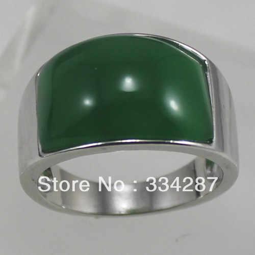 Noblest! เครื่องประดับแหวนหยกสีเขียวแหวนผู้ชายขนาด 7-12