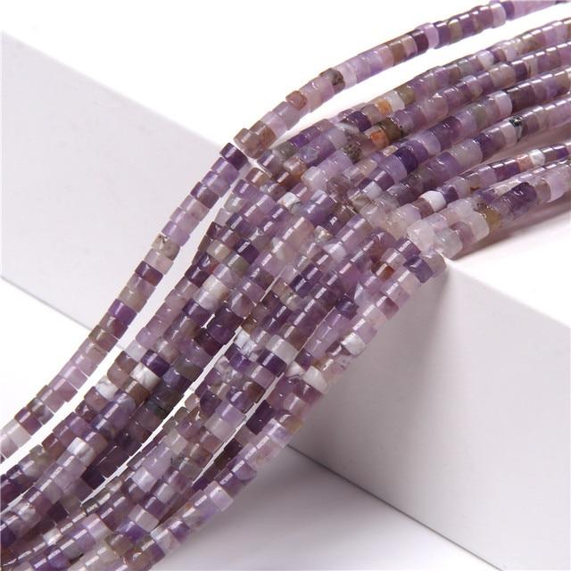 Améthystes naturelles Malachite Sodalite Abacus perles de pierre forme de disque Rondelle perles despace pour bricolage oreille goujon Bracelet fabrication de bijoux