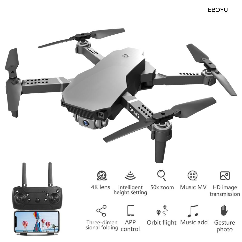 EBOYU L702 RC Drone 2.4G Wifi FPV 4K / 720P HD Camera Altitude Hold One Key Return/Landing /Off Headless RC Quadcopter Drone Toy
