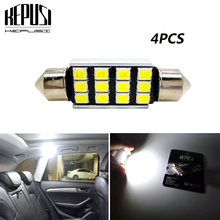 цена на 4x festoon 31mm 36mm 39mm 41mm C5W C10W 2835 LED Car Lamp Auto Dome Light Interior Bulb Map License Plate Light White canbus