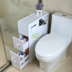 30% المرحاض خزانة جانبية خزانة جانبية المرحاض تخزين الرف الغبار رف الطابق زاوية خزانة كليب خزانة ضيقة منخفضة
