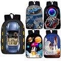 Школьные сумки для гонок в автомобиле  для подростков  девочек и мальчиков  16 дюймов  забавная Сумка для малышей  женский и мужской рюкзак дл...