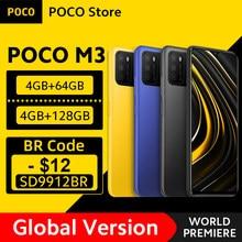 [Première mondiale en Stock] Version mondiale POCO M3 Smartphone Snapdragon 662 Octa Core 4GB 64GB/128GB 6.53