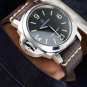 Image 4 - MAIKES ręcznie robiony pasek do zegarków pasek ze skóry bydlęcej Vintage pasek do zegarków ze stali nierdzewnej stalowa klamra do Panerai Omega SEIKO CITIZEN