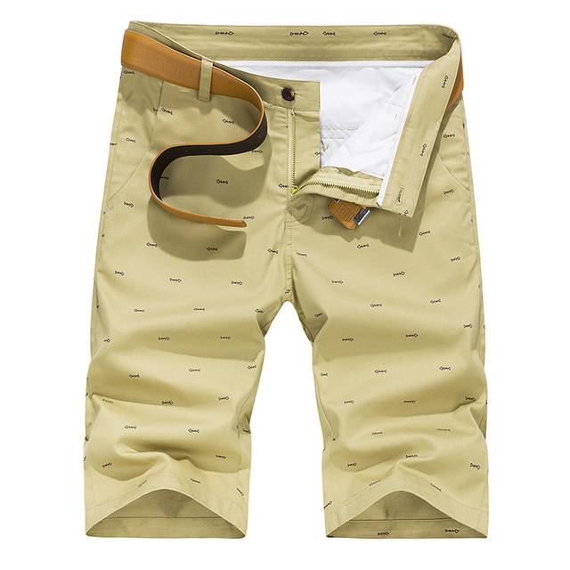 Men Shorts Summer Fashion Solid Color Casual