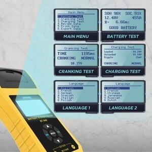 Image 2 - Autool BT660 12V Auto Batterij Tester Auto Zwengelen Opladen Tester Cca Voertuig Starten Diagnostic Tool Beoordeling Data Met Printer