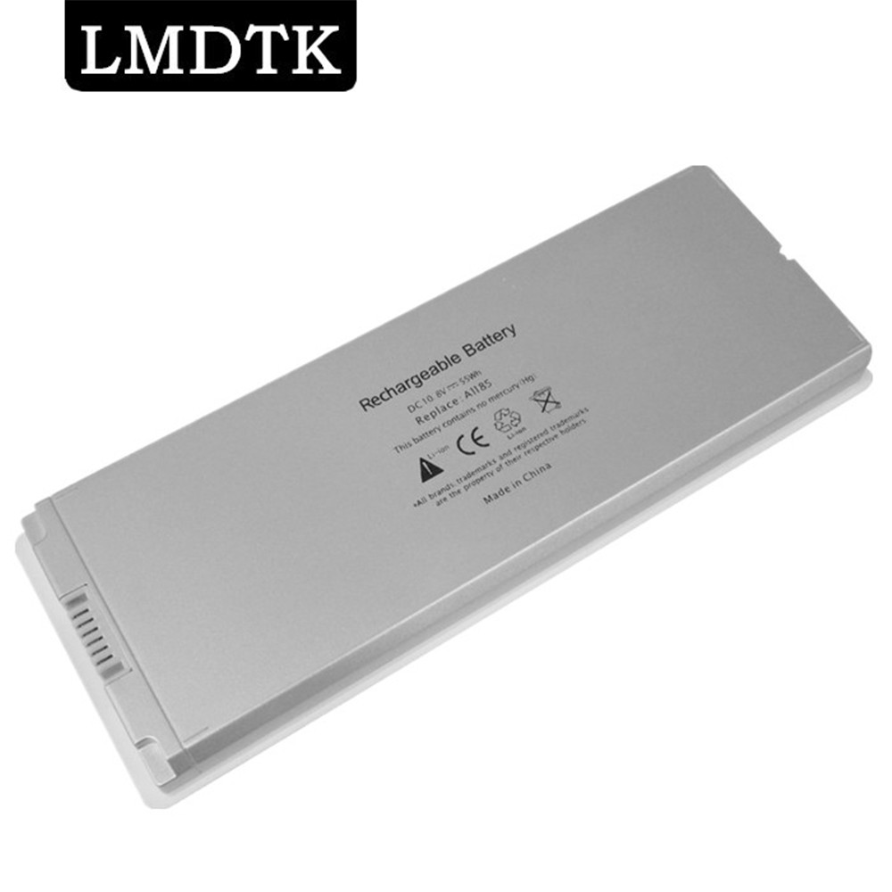 "LMDTK New White  Laptop Battery For Apple MacBook 13"" A1185 A1181 MA561 MA561FE/A MA561G/A MA254 Free Shipping"