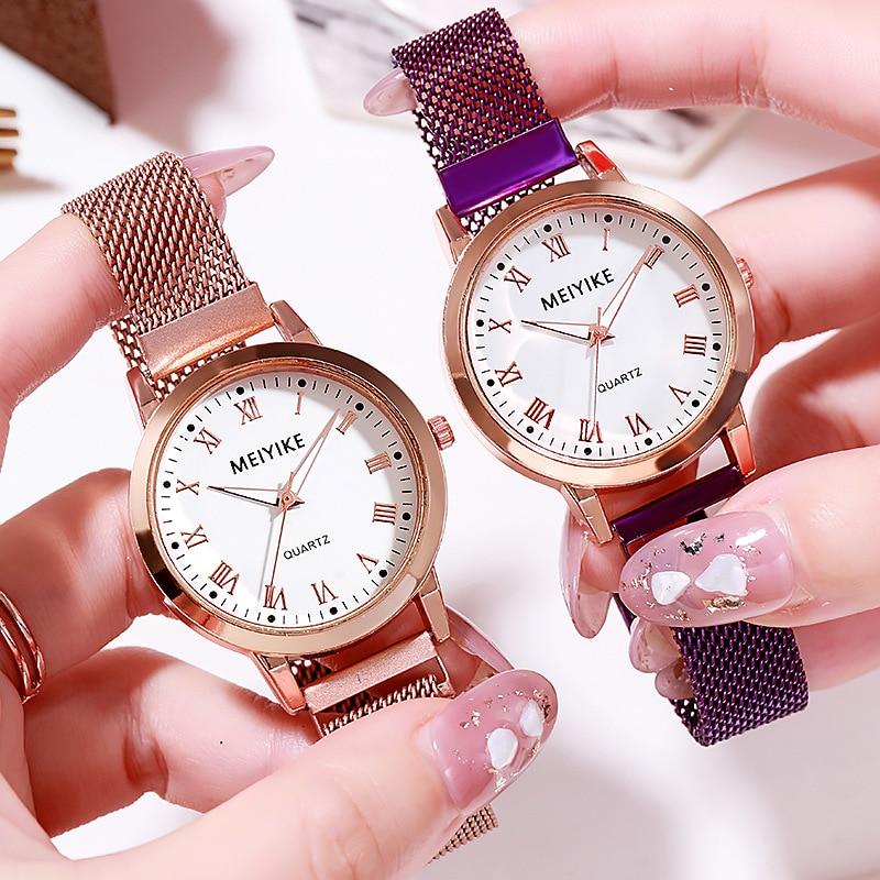 2020 New Watches Women Milan Magnet Strap Simple Quartz Wristwatches Ladies Dress Rome Numerals Watch Clock Montre Femme