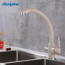 Kitchen 360 Rotation Filter Faucets Deck Mounted Mixer Tap with Water Purification Mixer Tap Crane For Kitchen Sink Tap