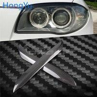 For BMW 1 Series E87 E82 120I 130I 04 10 Carbon Fiber Head Light Eyebrow Trim Cover Eyelids Car Front Headlight Eyebrow Eyelid