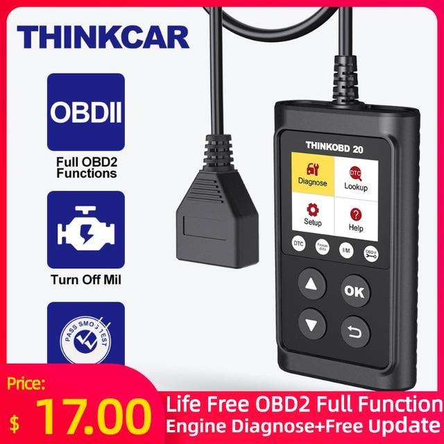 THINKCAR THINKOBD 20 Professional OBD2 Car Auto Diagnostic Tool OBD 2 Scanner automotivo Code Reader Check Engine Light