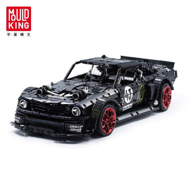 Compatible With Legoed Technic MOC-22970 Ford Mustang Hoonicorn RTR RC Car Model Kit Building Blocks Bricks DIY TOYS Fit 20102