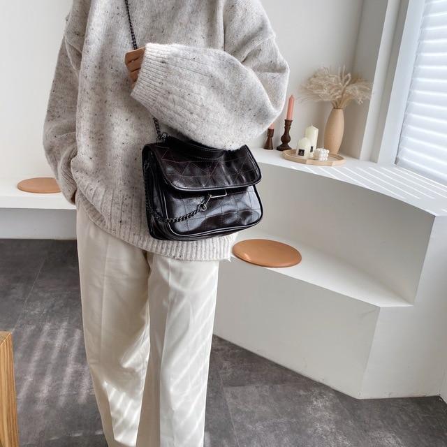 Crossbody Bags for Women Large Capacity High-end Foreign Shoulder Bag Korean Version of The Messenger Bag Retro Messenger Bag 4