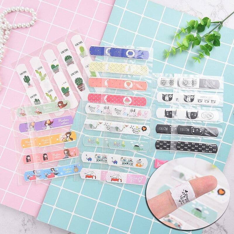 10pcs Waterproof Bandages Breathable Cartoon Band Aid Hemostasis Adhesive Bandages First Aid Emergency Kit Baby Skin Care