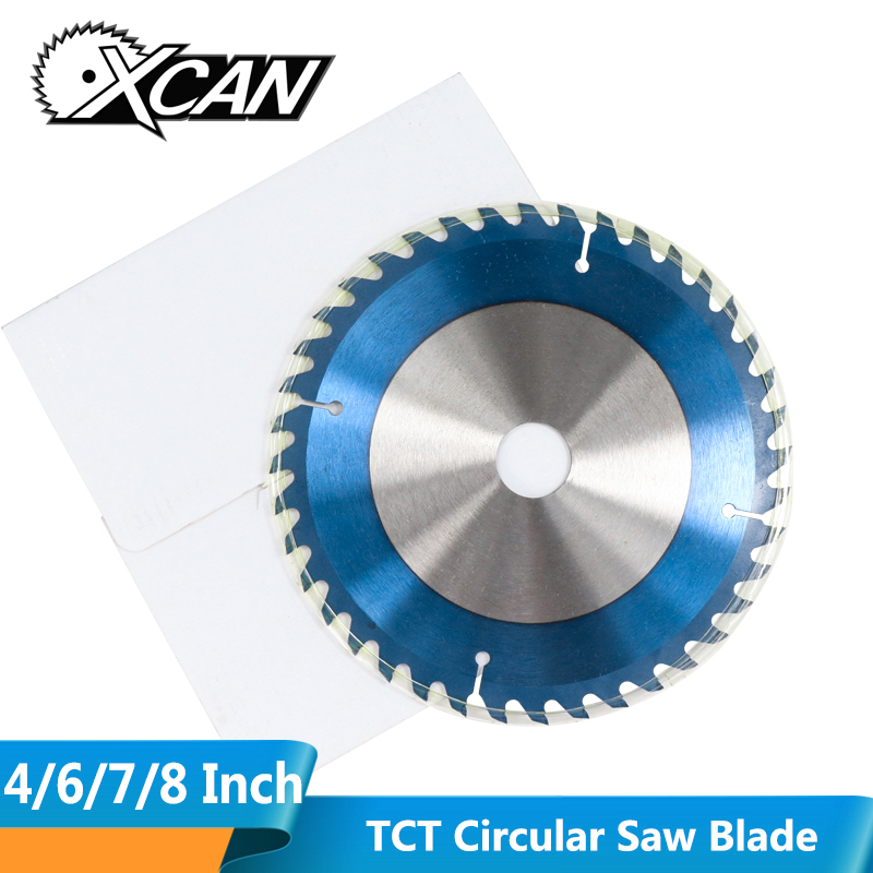 XCAN 1pc 4/6/7/8 Inch Nano Blue Coated Circular Saw Blade Carbide Tipped TCT Blade Mutilfunction Wood Cutting Disc