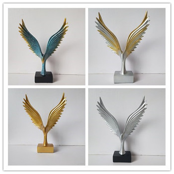 Nordic Creative Resin Crafts Eagle Wings Art Decoration TV Cabinet Office Wine Cabinet Home Decoration