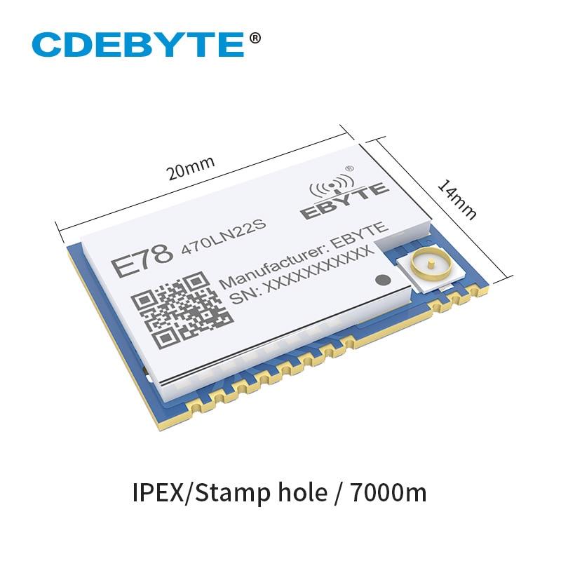Ebyte E78-470LN22S LoRaWAN Node Module ASR6501 433MHz LoRa OTAA ABP 22dBm IPEX Stamp Hole Long Range Wireless Transceiver