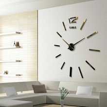 Modern Large 3D Wall Mirror Decorative Mirrors Surface Wall Clock Sticker Home Office Room DIY Mirror Decor New Arrival Stick лампа светодиодная таблетка jazzway 493461 gx53 8w 5000k