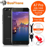 Blackview A7 Pro Smartphone 2GB RAM 16GB ROM 5.0 4G LTE MTK6737 Quad Core Android 7.0 8MP 2800Mah Fingerprint Mobile Phone