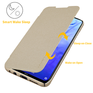 Image 2 - Voor xiaomi redmi note 8 Pro case cover 6.53 NILLKIN voor xiaomi redmi note 8 case cover 6.3 Sparkle flip cover PC back cover