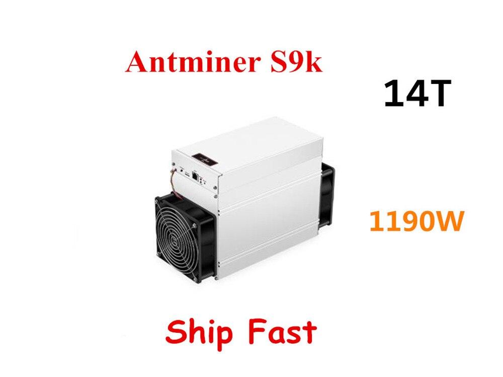 BITMAIN New AntMiner S9k 14T Bitcoin BTC BCH Miner Better Than Antminer S9 13.5t 14t S9j 14.5t S9 SE S11 S15 S17 T9+ T15 T17