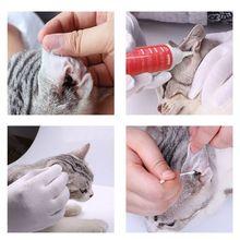 K3NA 1Bottle 60ML Pet Ear Cleaner Cat Dog Ear Mites Infection Treatment Grooming Kit