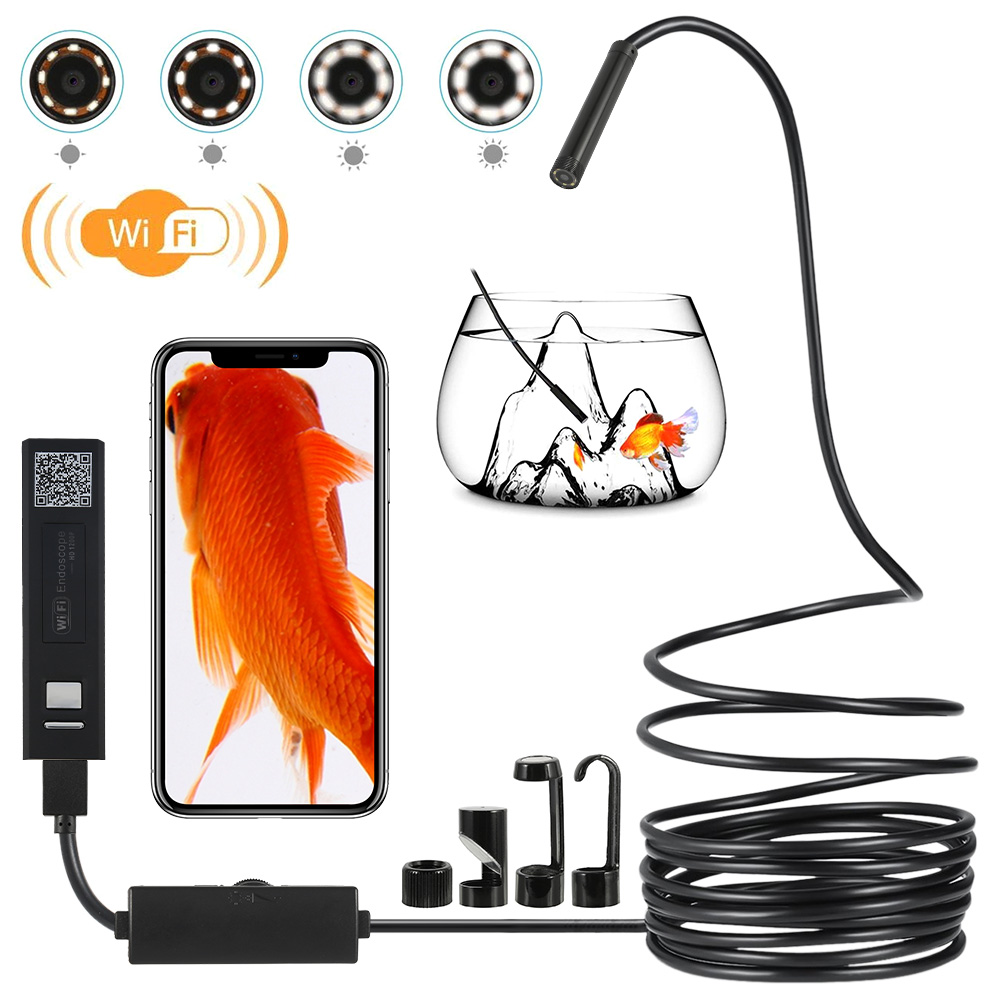 5M 8mm Endoscope Camera Borescope Flexible USB Inspection Camera HD1200P IP68 Waterproof Endoscope Camera for Android PC Phone image