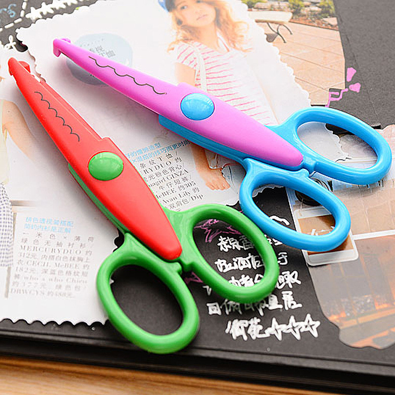 DIY Album Modified Accessories Lace Scissors Sawteeth Handmade Tailor Photo Card Children Safe Protective Case