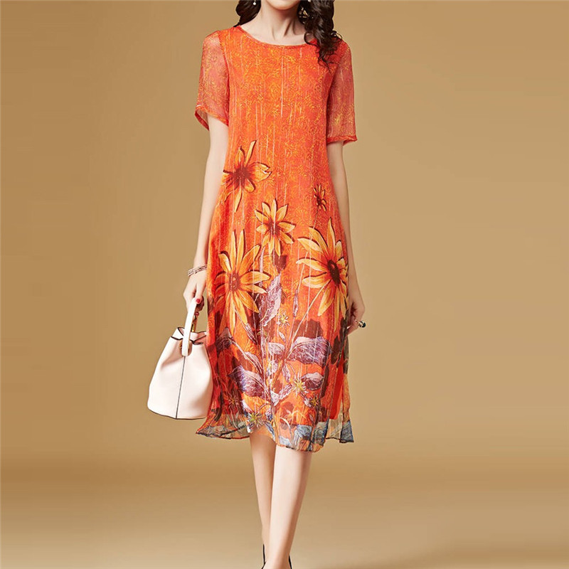 Summer Dresses Woman Party Night Sunflower Women Fashion ...