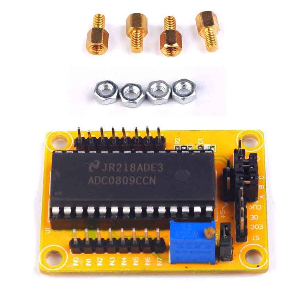 A80 ADC0809 Module AD Conversion 8-way Parallel Digital Voltmeter Analog-to-digital Conversion Module