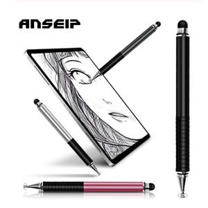 ANSEIP Touch Screen Pen for iPhone/Samsung/iPad Tablet Pen Drawing Pencil 2in1 Capacitive Stylus Pen Mobile Phone Accessory