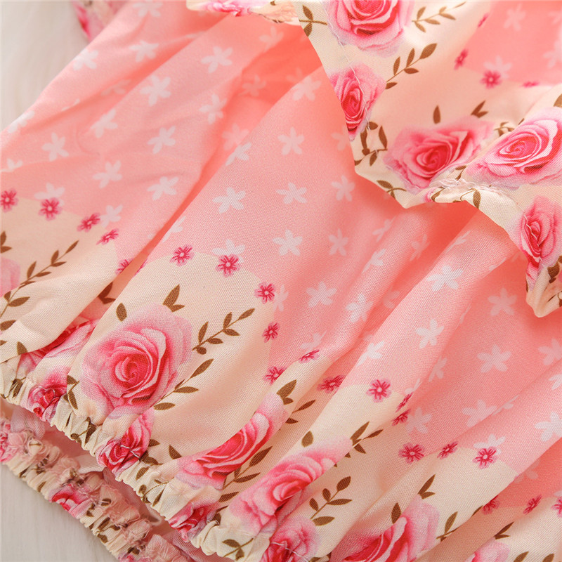 0 24M Newborn Infant Kids Baby Girl Floral Tops Lace Short Skirt Shorts Pants Clothes Baby Girl Outfits in Clothing Sets from Mother Kids