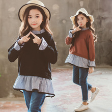 Toddler girl outfits 2020 striped patchwork t-shirt tops denim pants clothes kids 2pcs autumn suits kids outfits clothes toddler girl outfits 2018 striped patchwork t shirt tops denim pants clothes kids 2 pcs autumn suits children outfits clothing