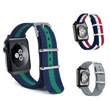 цена на Hot Sell Nylon Watchband for Apple Watch Band Series 4/3/2/1 Sport Leather Bracelet 42 mm 38 mm Strap For iwatch 5 Band