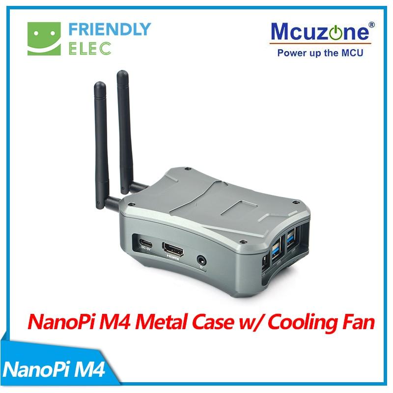 NanoPi M4 V2 CNC Metal Case W/ Cooling Fan
