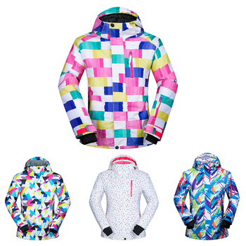 Winter Women Ski Snowboard Jacket Windproof Waterproof Breathable Warm Thermal Snow Skiing Clothes Snowboard Jacket Plus Size