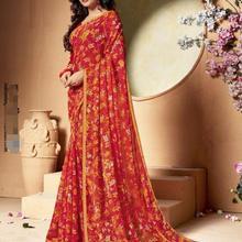 India Sarees Woman Beautiful Printing Floral Ethnic Daily Saree