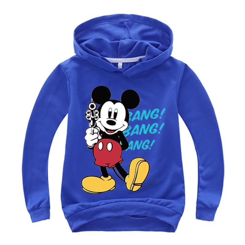 2021 Mickey Sweatshirt Printed Kids Tops For Boys Girls Pullover Hoodies Hip Hop Basic Coat Children's Wear Girls clothes 5