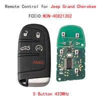 5 taste 433MHz Ersatz Smart Remote Key Keyless Fob Für Jeep Grand Cherokee 2014-2018 Auto Schlüssel eps7236 m3N40821302 Chip