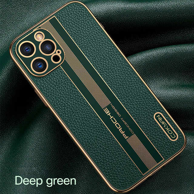 Fashion Luxury Business Shockproof Soft Silicone PU Leather Cell Phone Case For iPhone 12 11 Pro Max Mini Cover Fundas Coque 6