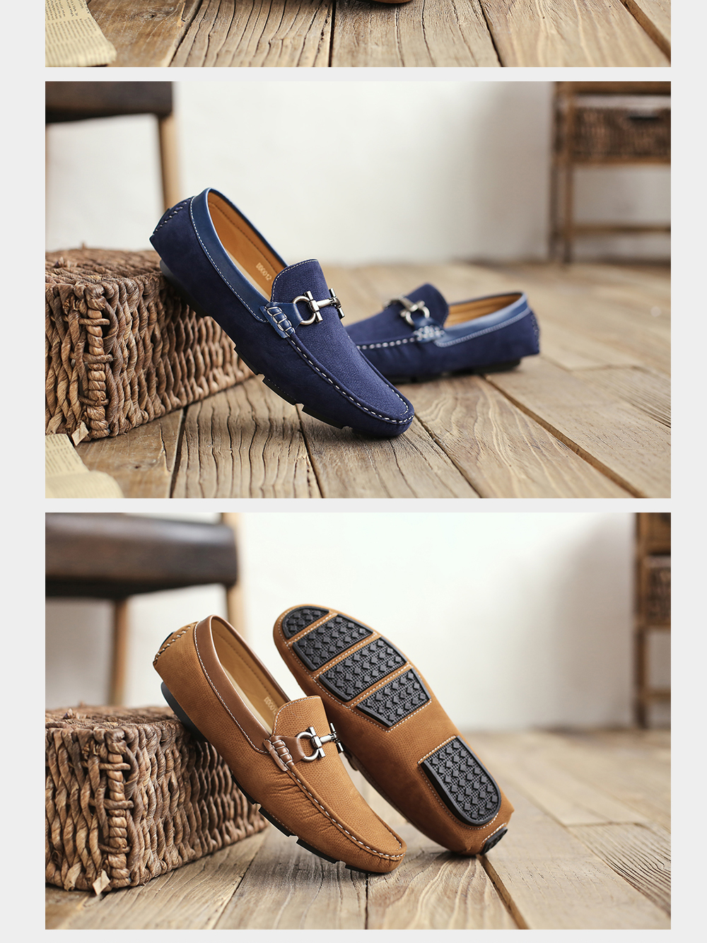 Men Shoes 2020 New Fashion Comfy Boat Man Footwear Brand Slip On Moccasin Driving Flats Shoes Popular design Men Casual Shoes