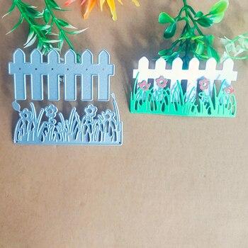 Accesorios de flores de hierba verde para vallas, troquel de corte de metal para tarjetas de decoración, troquel de troquelado para álbumes de recortes, plantilla de proceso de papel D